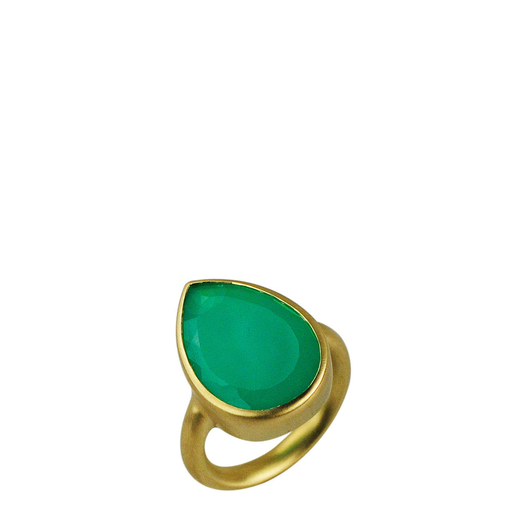 18K Gold Chrysoprase Ring