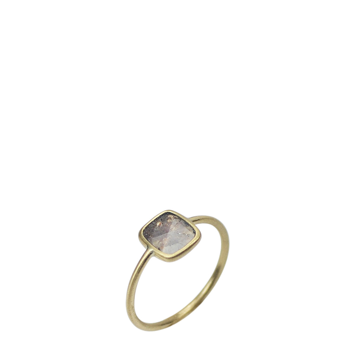 18K Gold Diamond Slice Ring