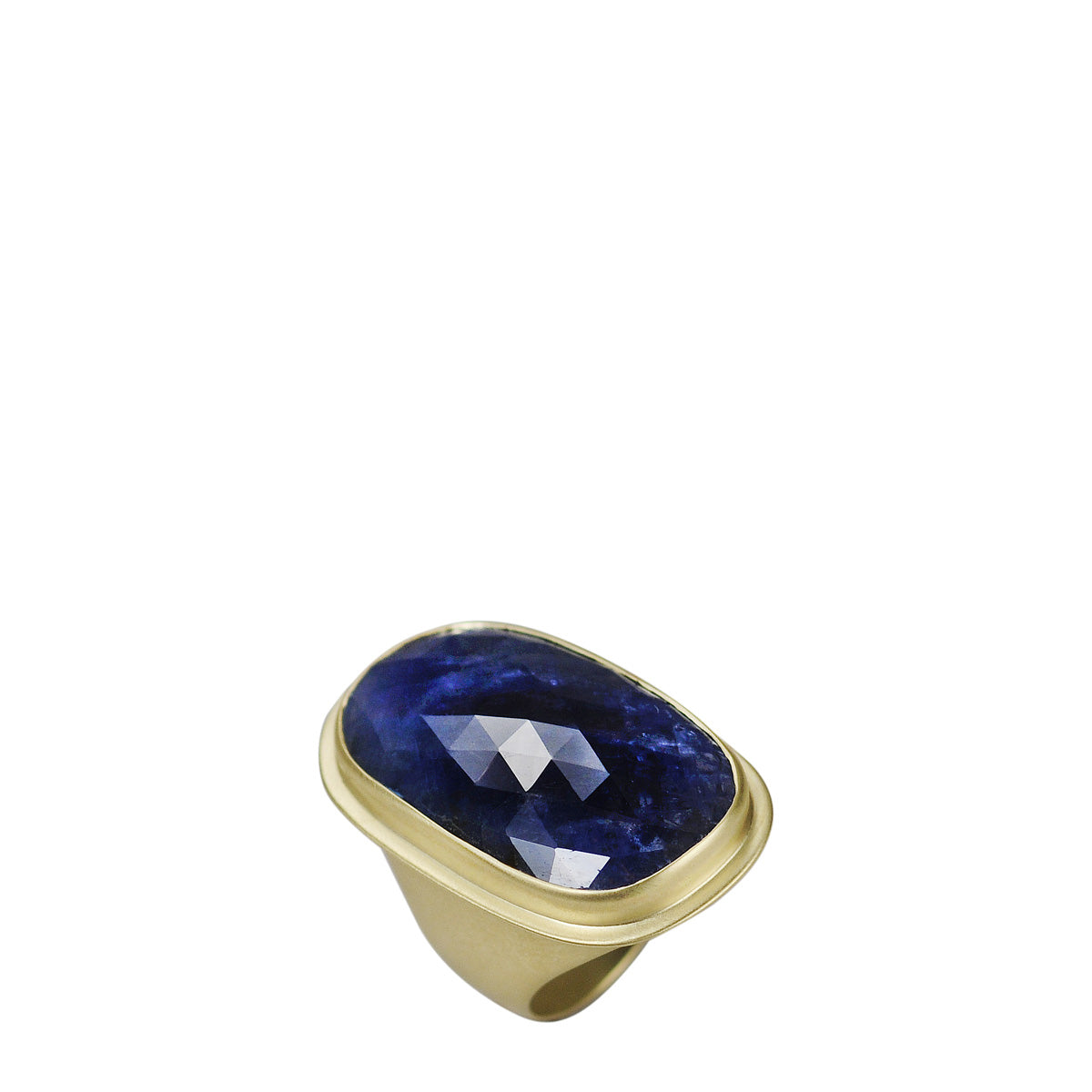18K Gold Large Sapphire Ring