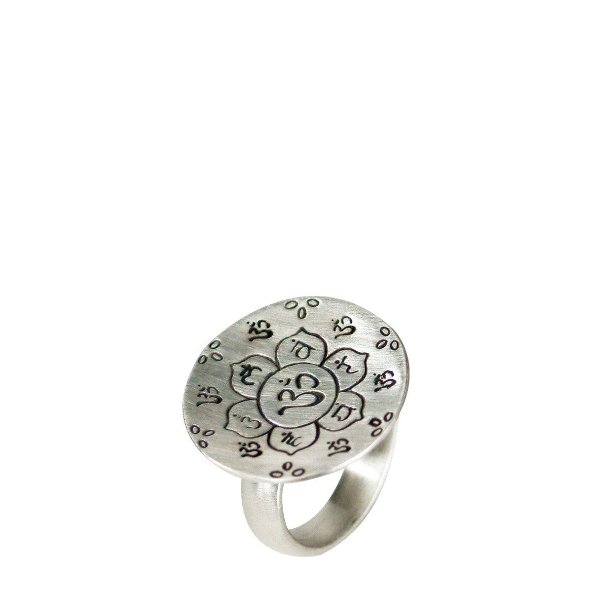 Sterling Silver Large Chakra Flower Ring