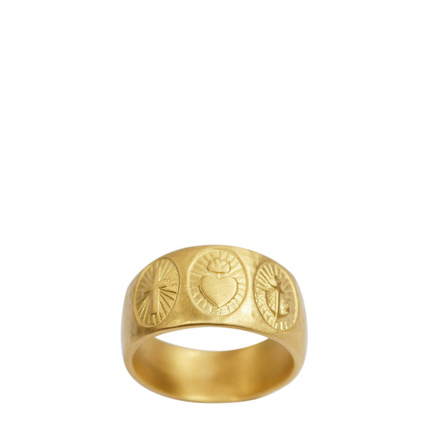 Men's 22K Gold Hope, Faith and Charity Ring