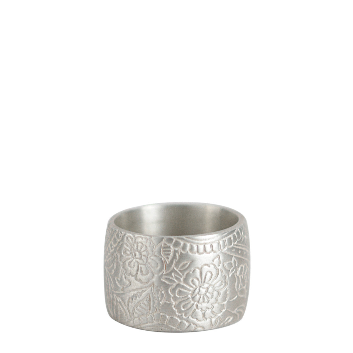 Sterling Silver Wide Paisley Band