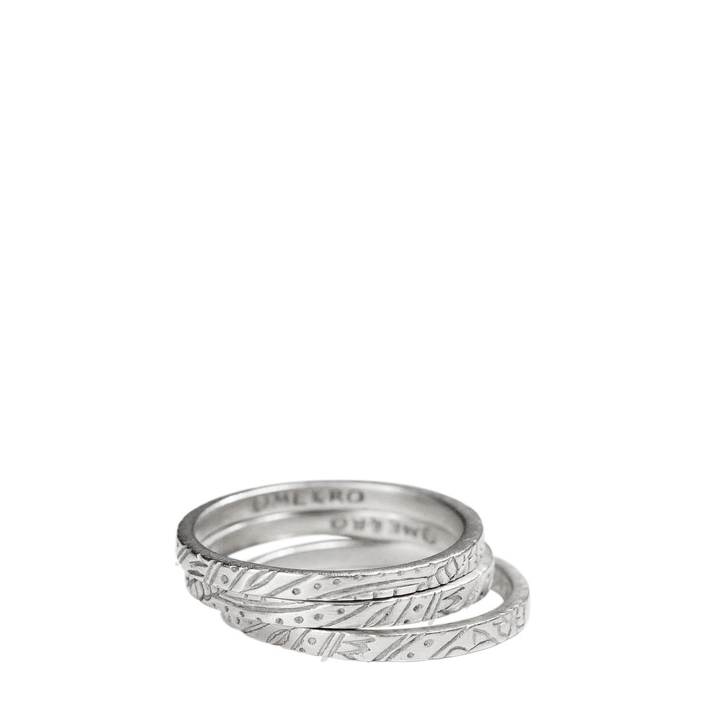 Sterling Silver Paisley Bands (Set of 3)