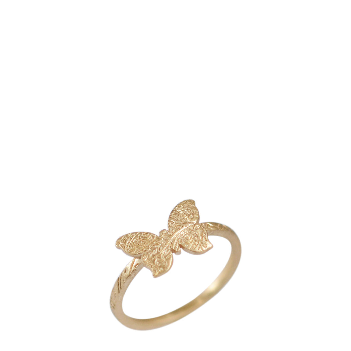 10K Gold Paisley Butterfly Ring