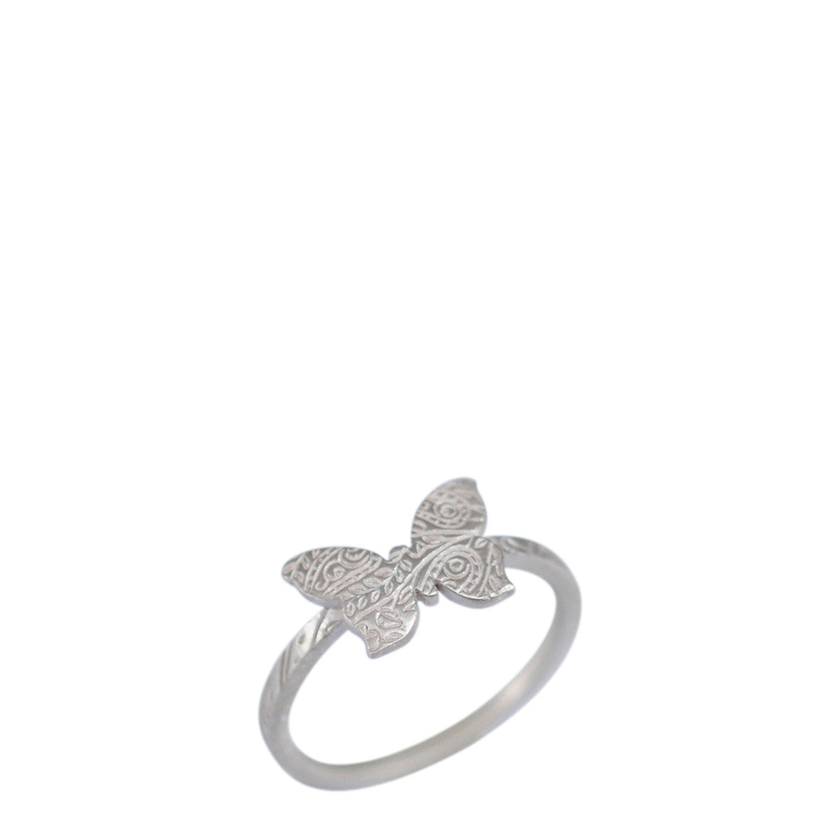 Sterling Silver Paisley Butterfly Ring