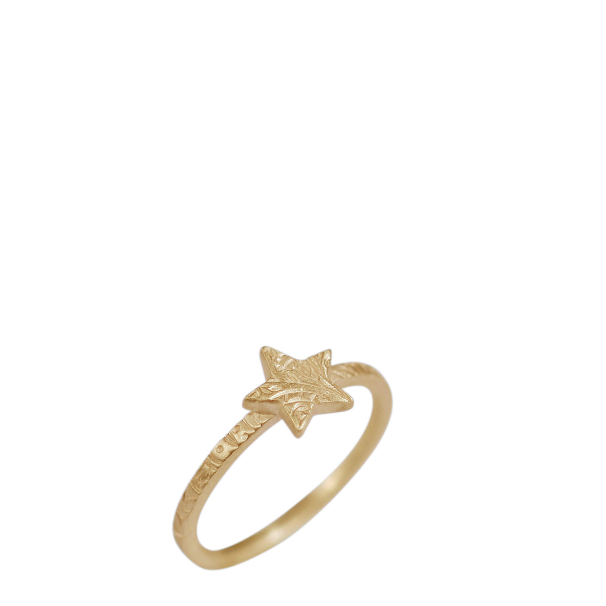 10K Gold Paisley Star Ring