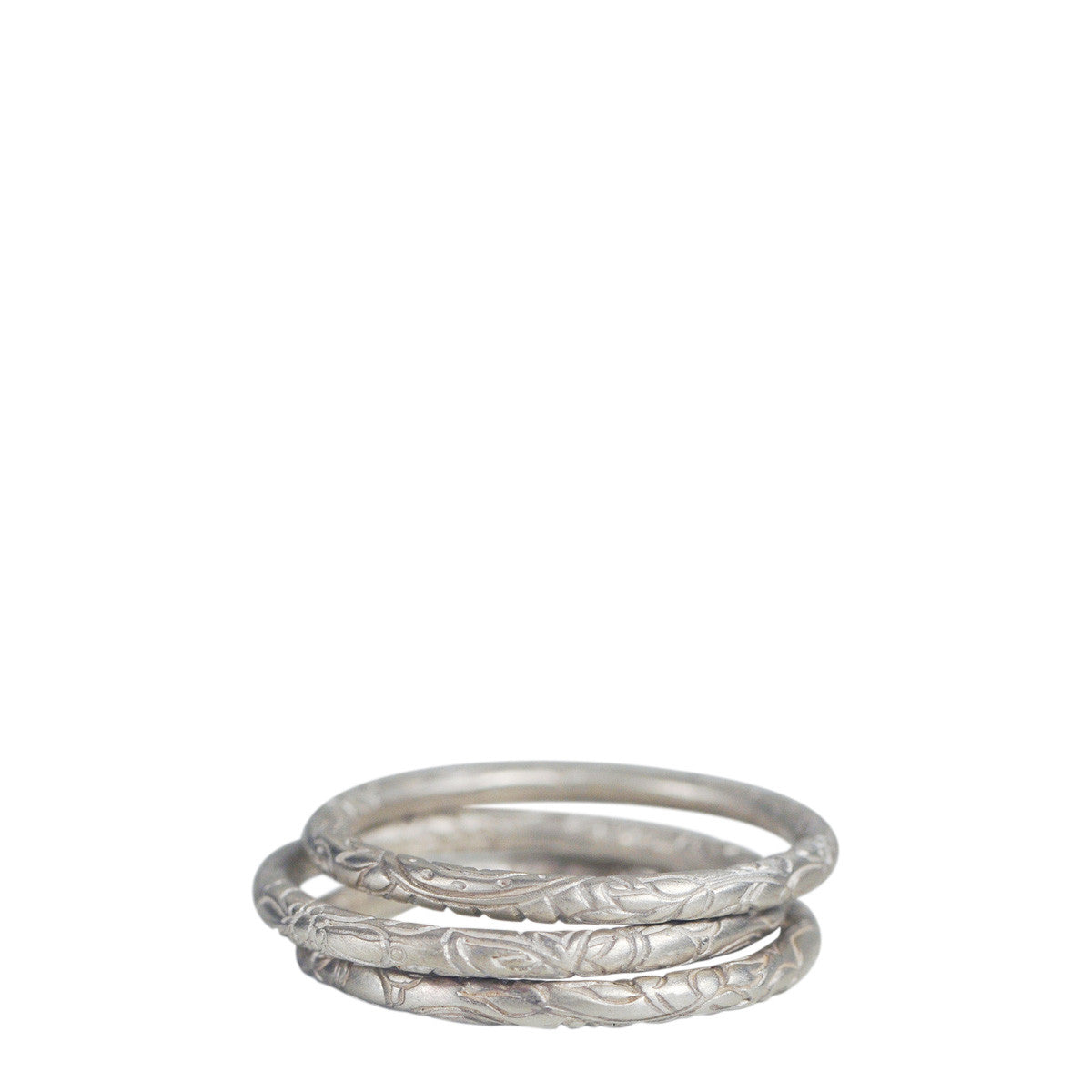 Sterling Silver Fine Paisley Rings (Set of 3)