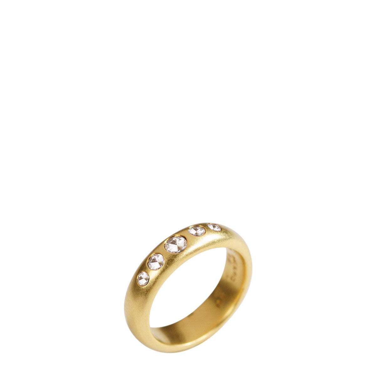 18K Gold 5 Diamond Band