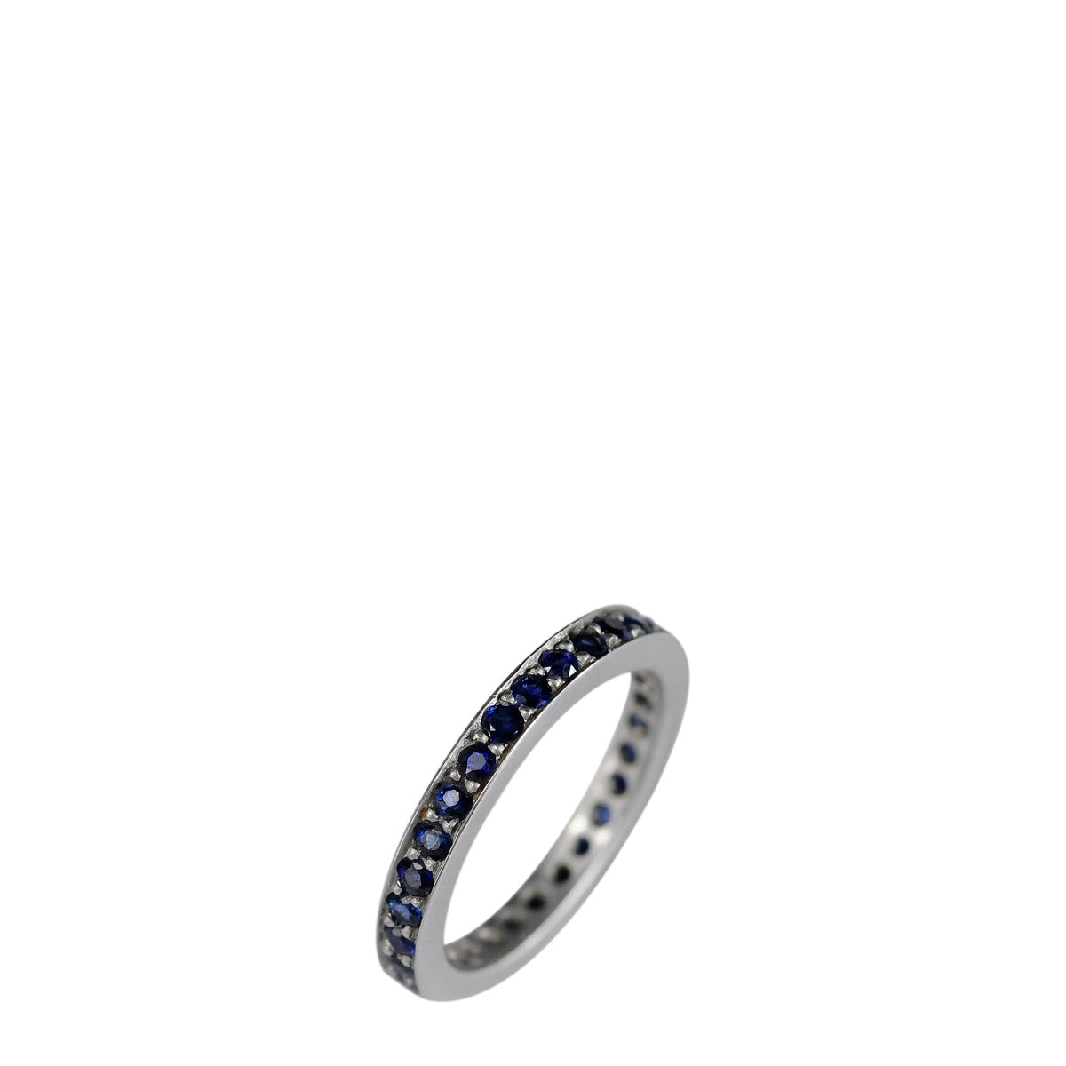 Platinum 3mm Band with 2mm Sapphires