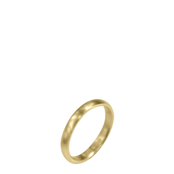 18K Gold Women's 3mm Wedding Band