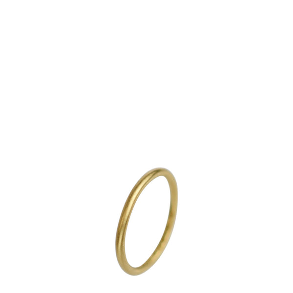 18K Gold Medium Fine 2mm Round Band