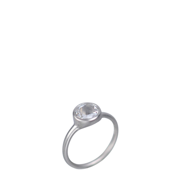 Platinum Rose Cut Diamond Ring