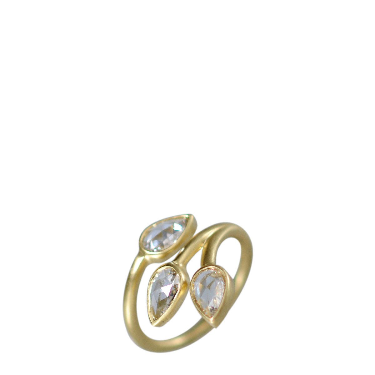 18K Gold Large Diamond Vine Ring
