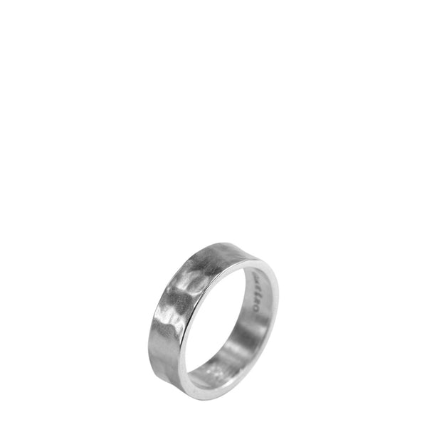 Men's Platinum 5.5mm Hammered Band
