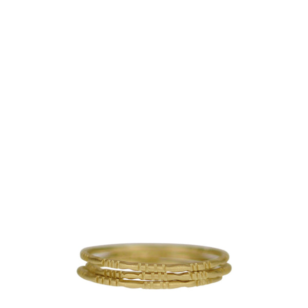 18K Gold Moroccan Rings (Set of 3)