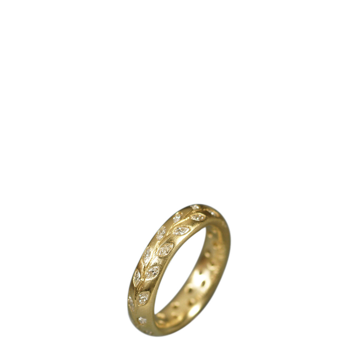 18K Gold Diamond Vine Ring