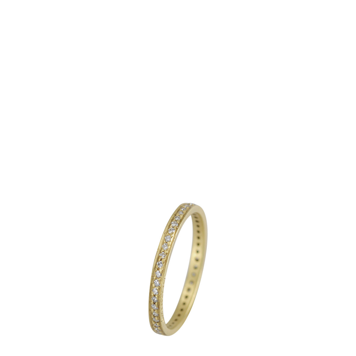 18K Gold 2mm Band with 1mm Diamonds