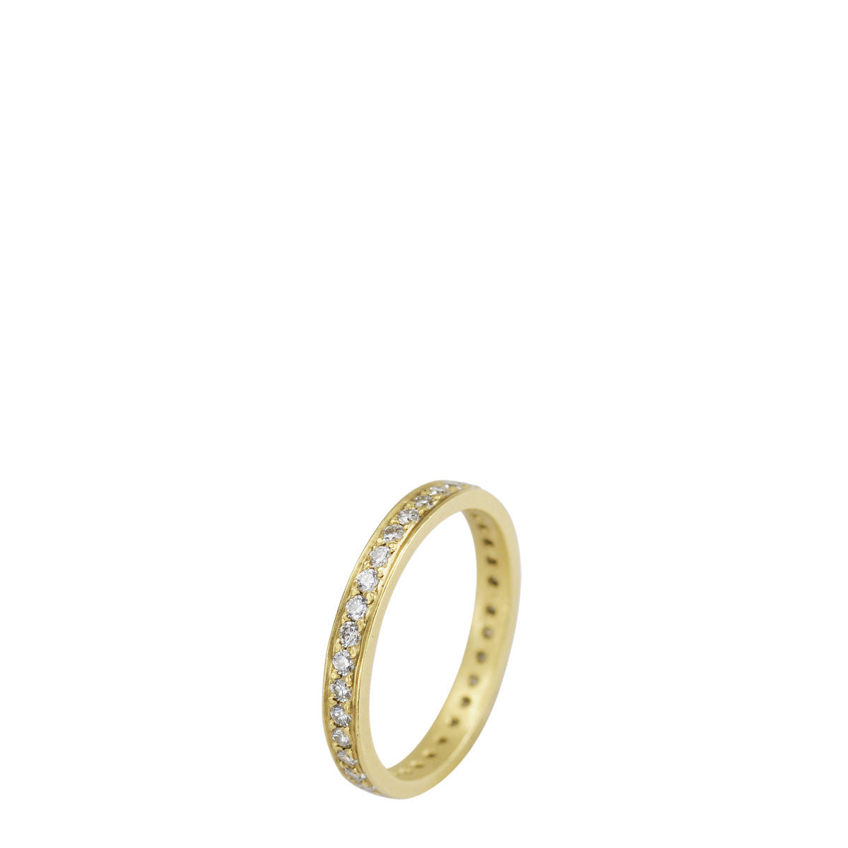 18K Gold 2.5mm Band with 1.5mm Diamonds