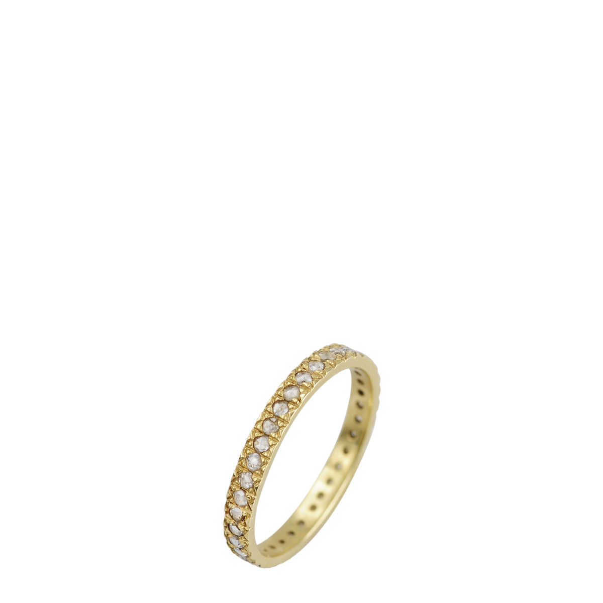 18K Gold 2.5mm Band with 1.5mm Indian Diamonds