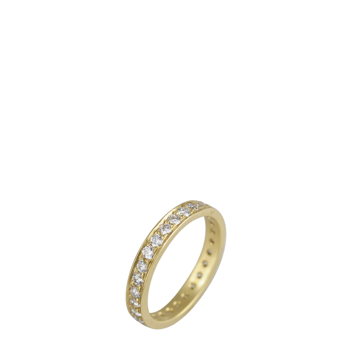 18K Gold 3mm Band with 2mm Diamonds
