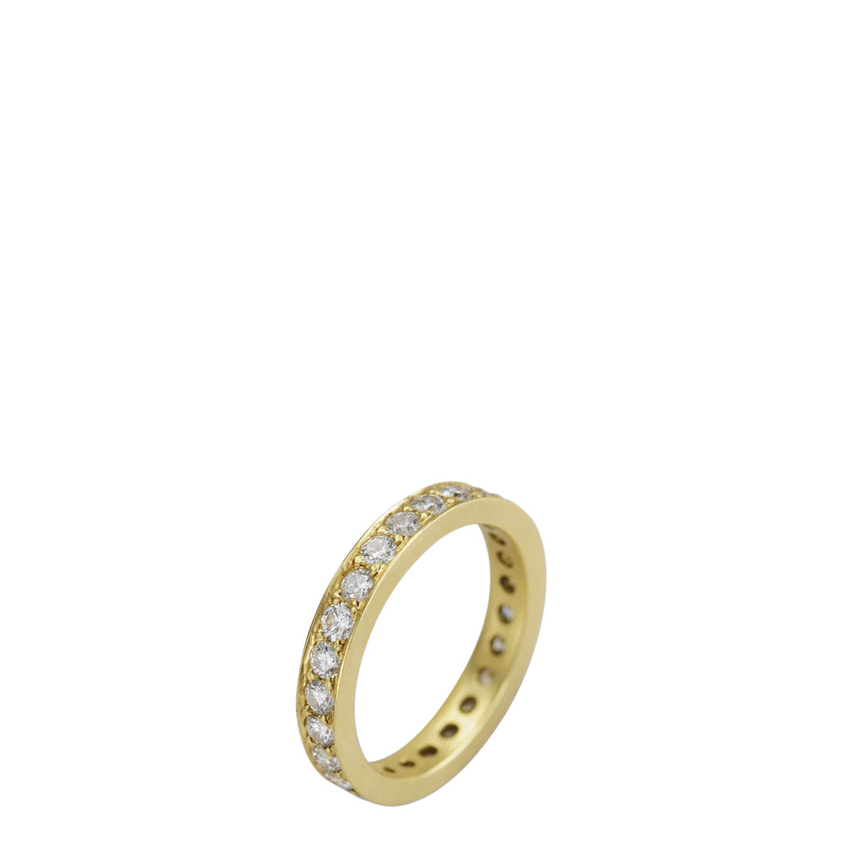 18K Gold 3.5mm Band with 2.5mm Diamonds
