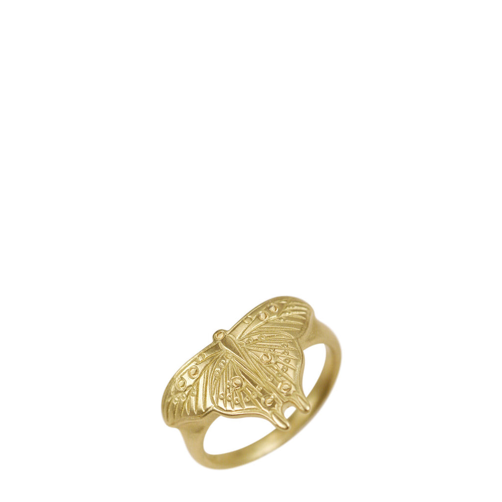 18K Gold Large Butterfly Ring