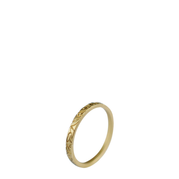 18K Gold Paisley Band