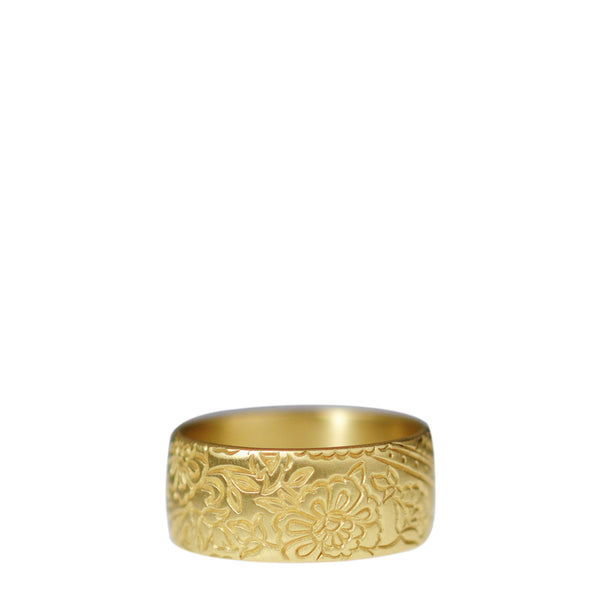 18K Gold 9mm Paisley Band