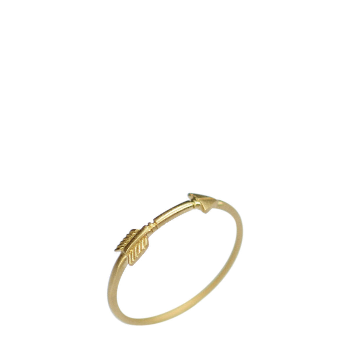 18K Gold Arrow Ring