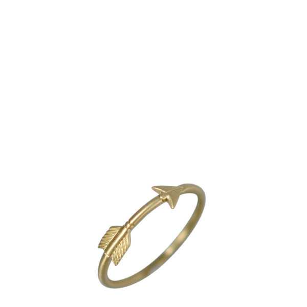 18K Gold Medium Arrow Ring