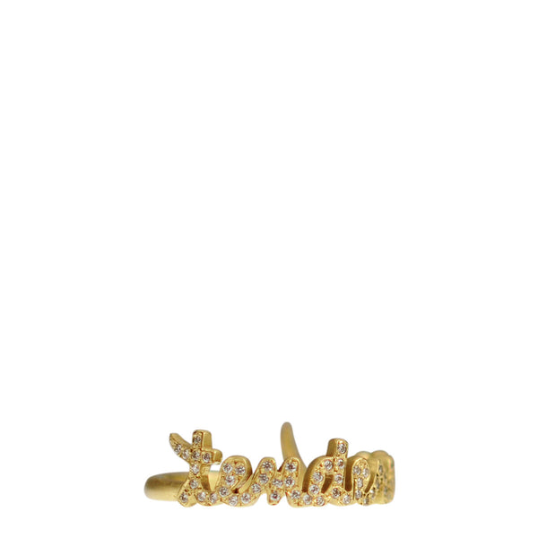 18K Gold Pave 'Tenderness' Ring with Diamonds