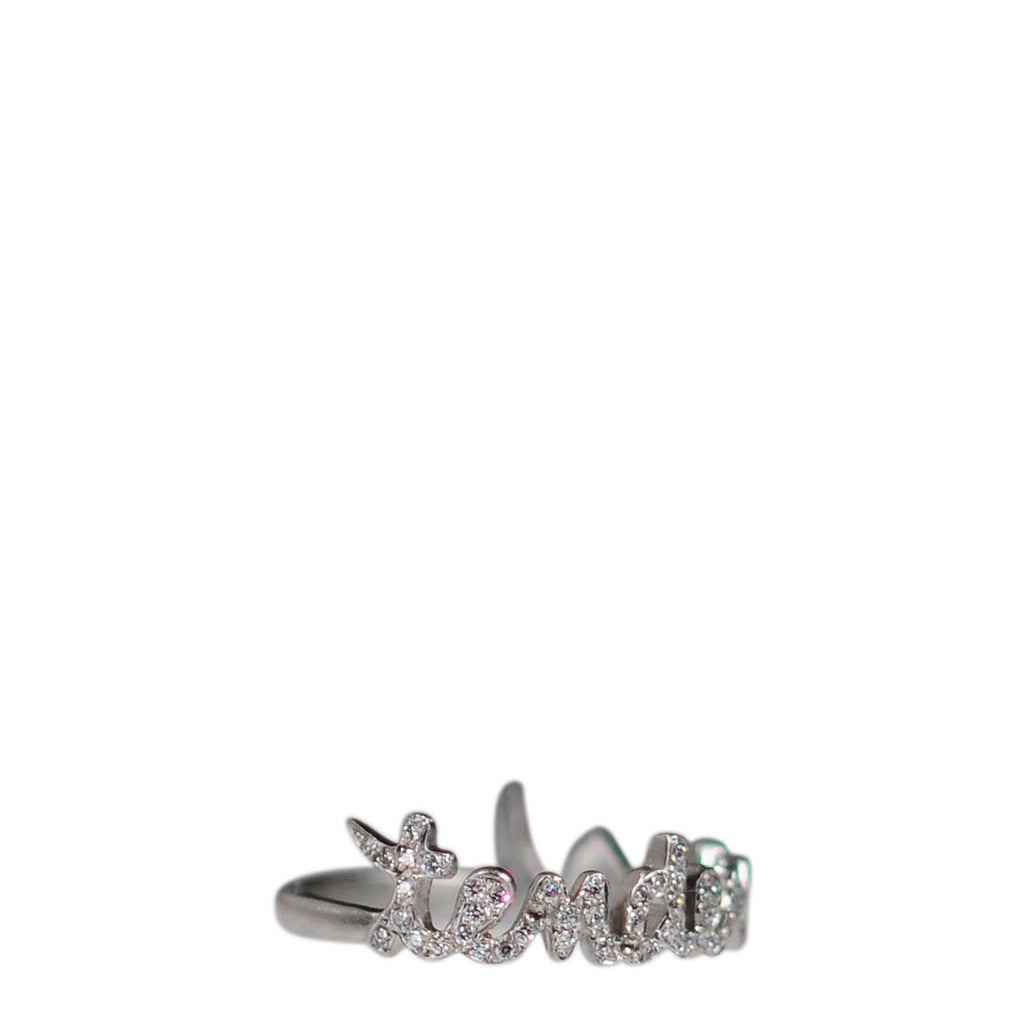 Platinum Pave 'Tenderness' Ring with Diamonds
