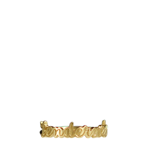 18K Gold 'Tenderness' Script Ring