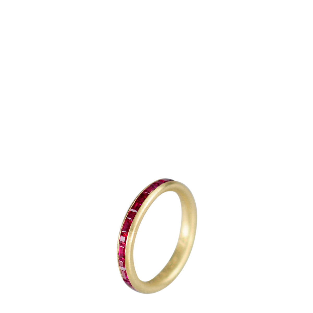 18K Gold Fine Band with Rubies