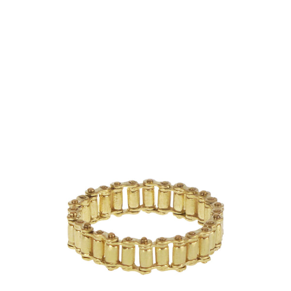 18K Gold Fine Gold Bar Ring