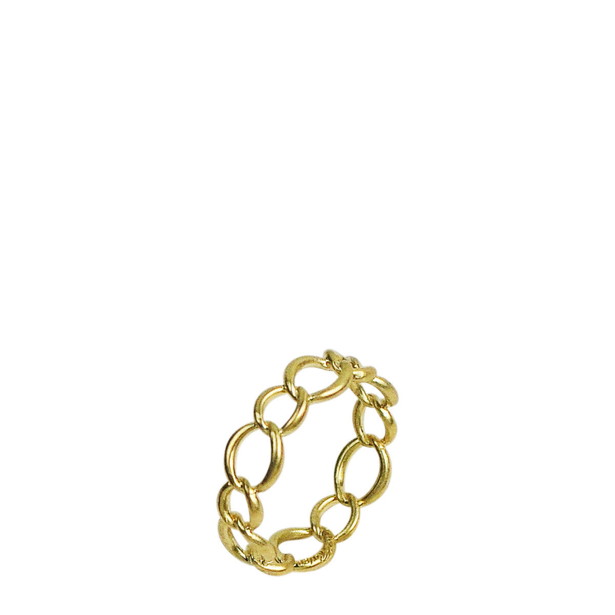 18K Gold Small Chain Ring