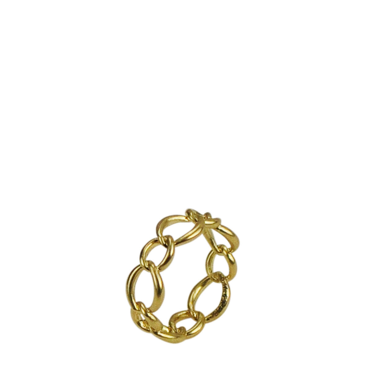 18K Gold Medium Heavy Chain Ring