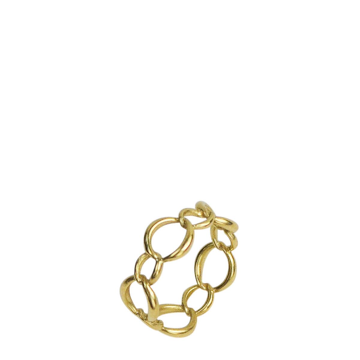 18K Gold Medium Fine Chain Ring