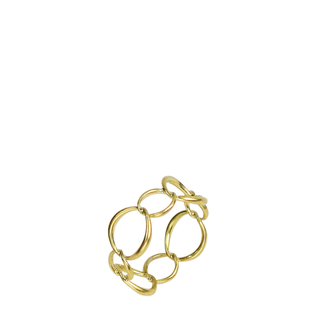18K Gold Large Chain Ring