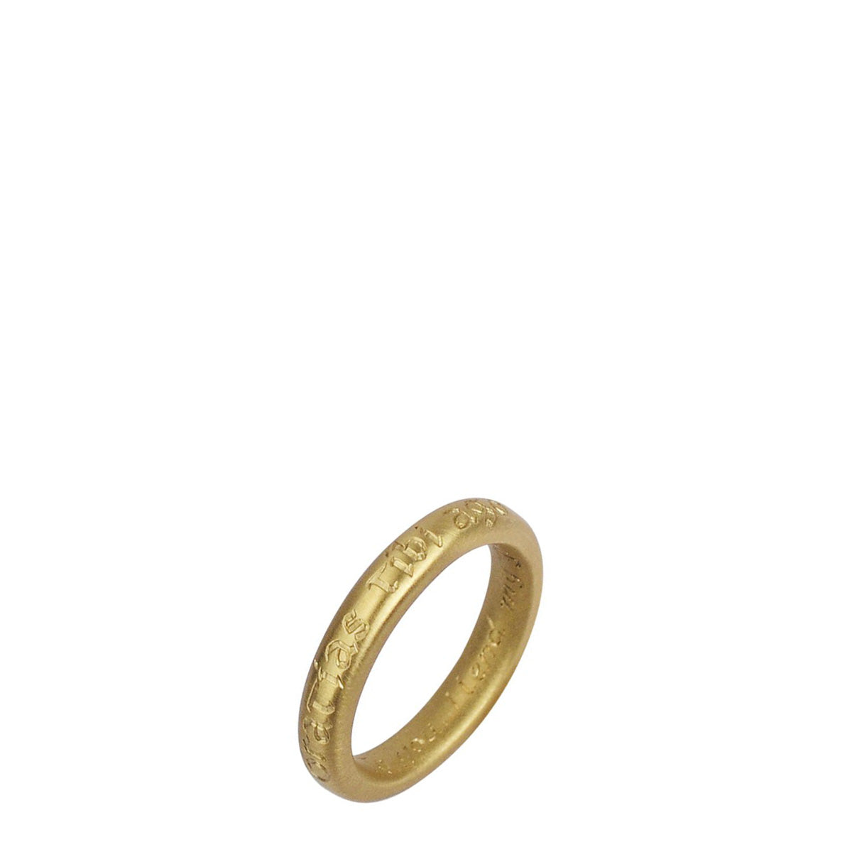 18K Gold Latin Gratitude Ring