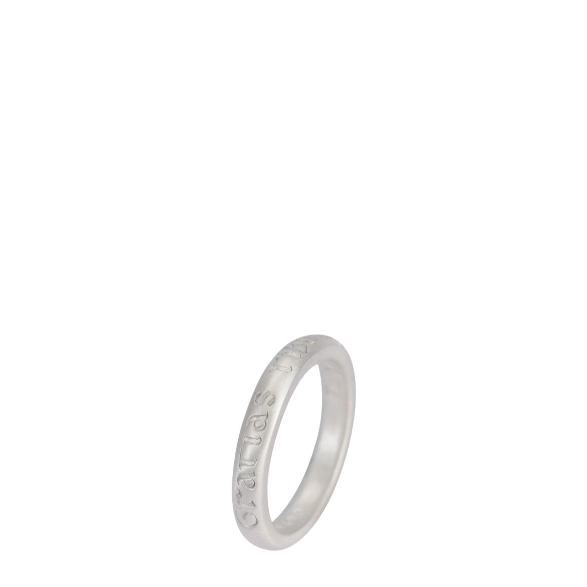 Sterling Silver Latin Gratitude Ring