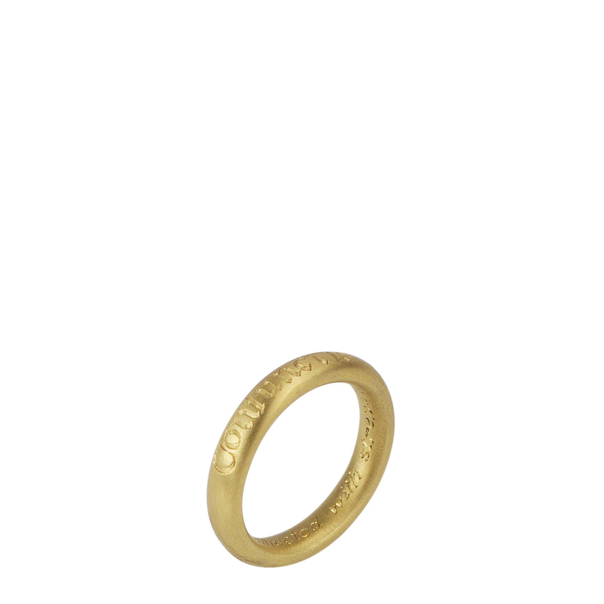 18K Gold Latin Strength Ring