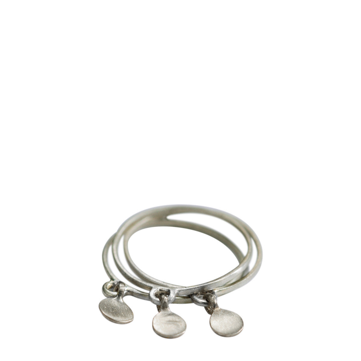 Sterling Silver Thin Ring with 1 Disc