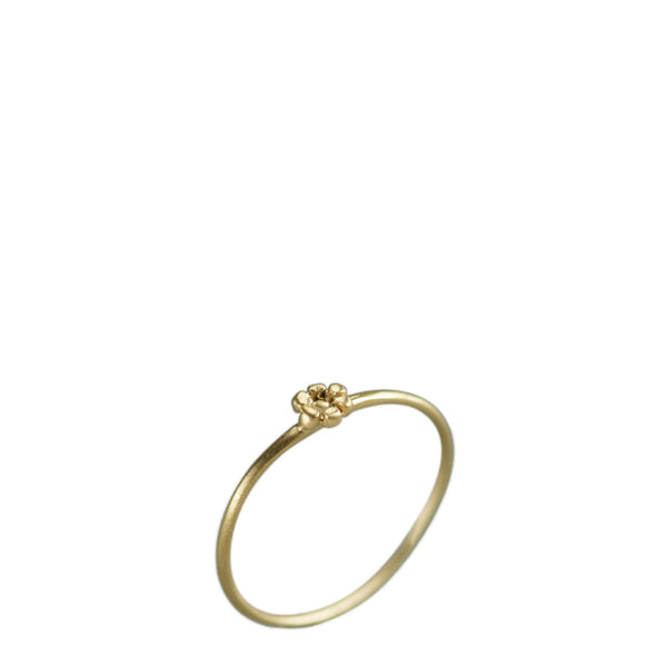 10K Gold Tiny Flower Ring