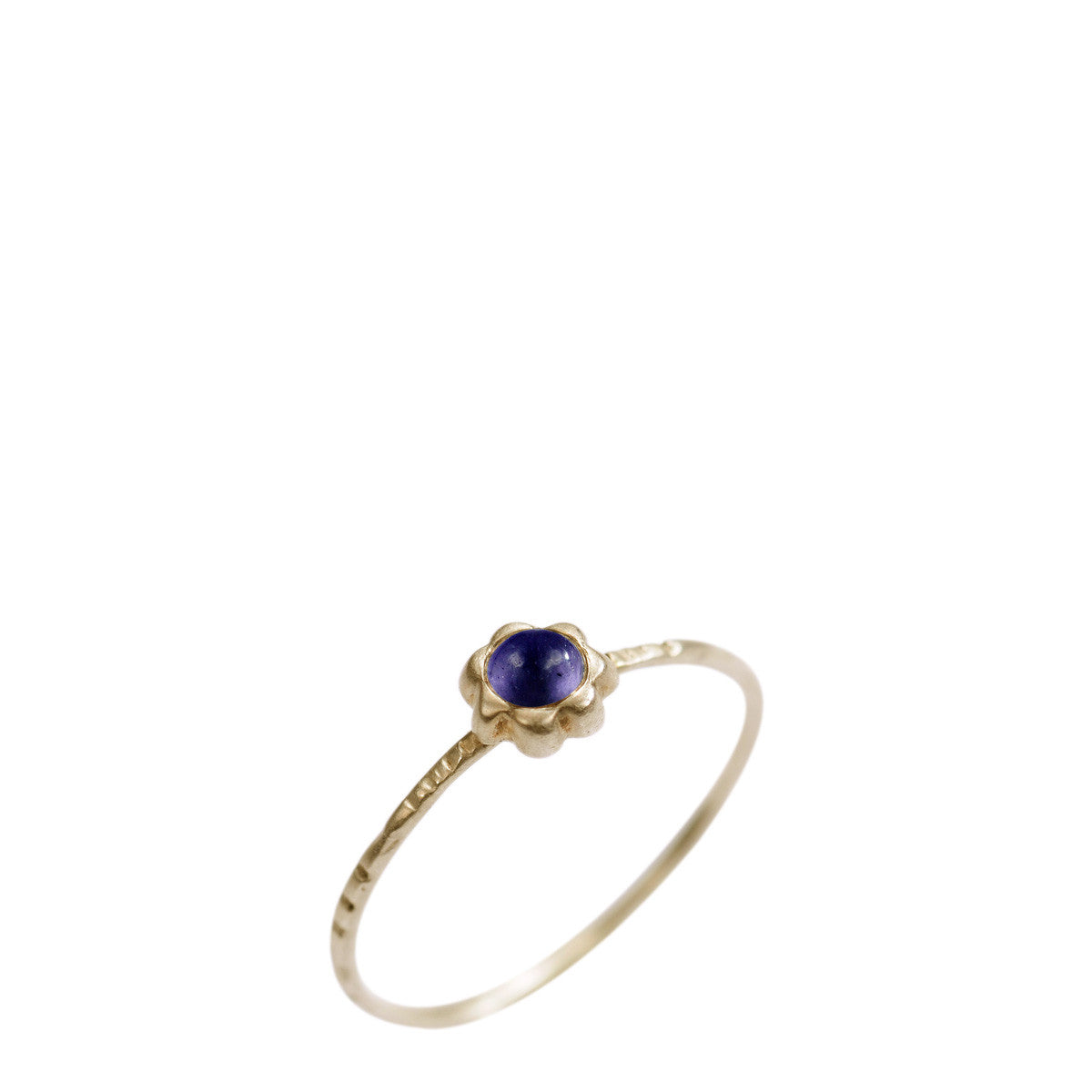 10K Gold Star Flower with Iolite Ring