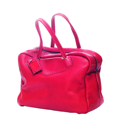Red Leather Weekend Bag