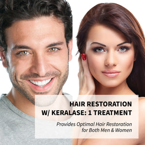 1 Treatment - Lase MD Laser with KeraLase - Laser Creates micro channels in the scalp allowing penetration of Keralase for optimal Hair Restoration