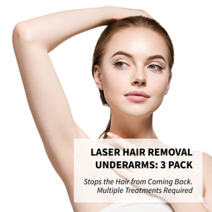 Laser Hair Removal Underarms: 3 Pack