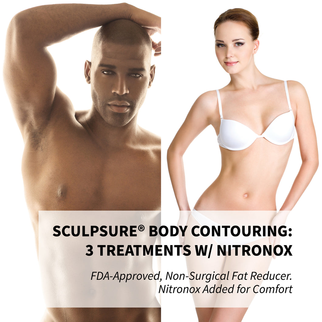 SculpSure® Body Contouring w/ Nitronox: 3 Pack