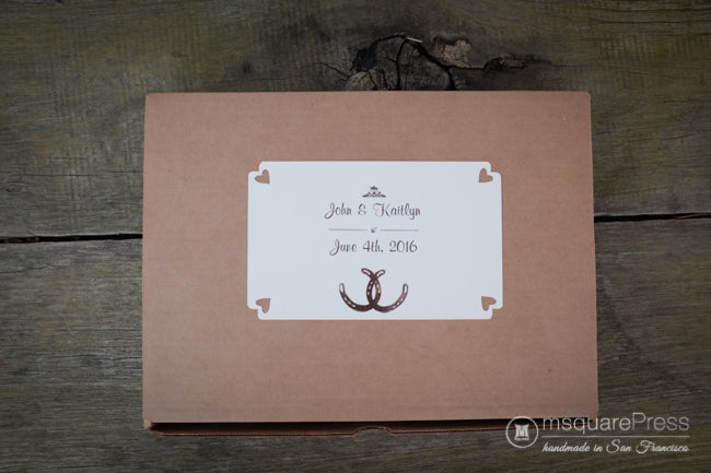 Lucky Horseshoes Wedding Guestbook